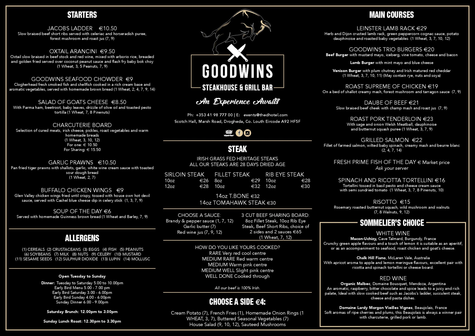 goodwins main dinner menu new page 001